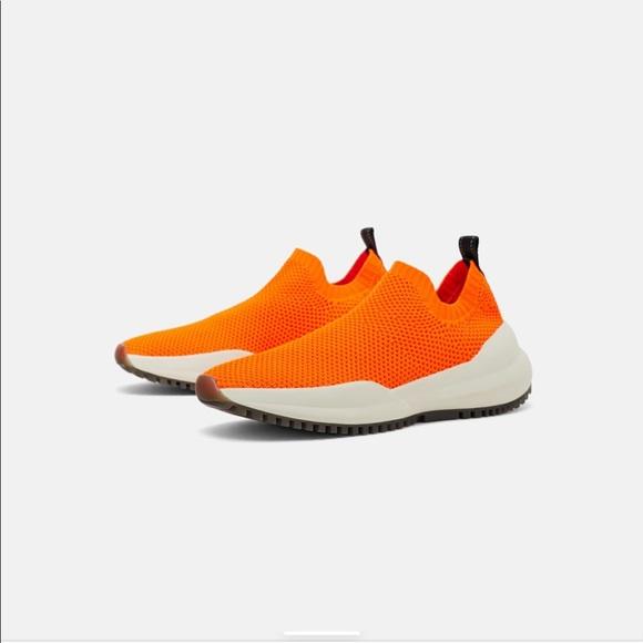 zara fabric sneakers
